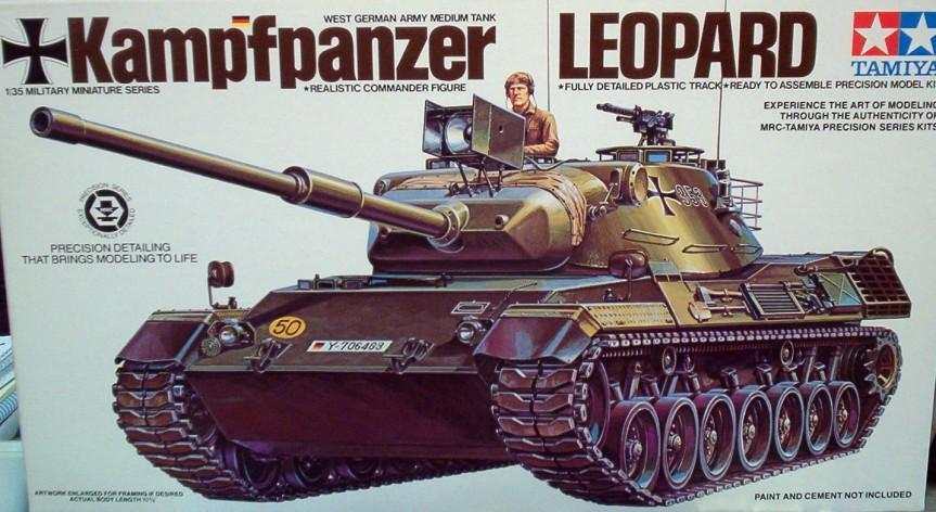 Tamiya German Leopard Tank 708 1