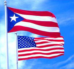 PR and US flags